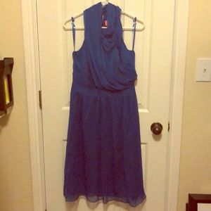Dressy blue knee length dress
